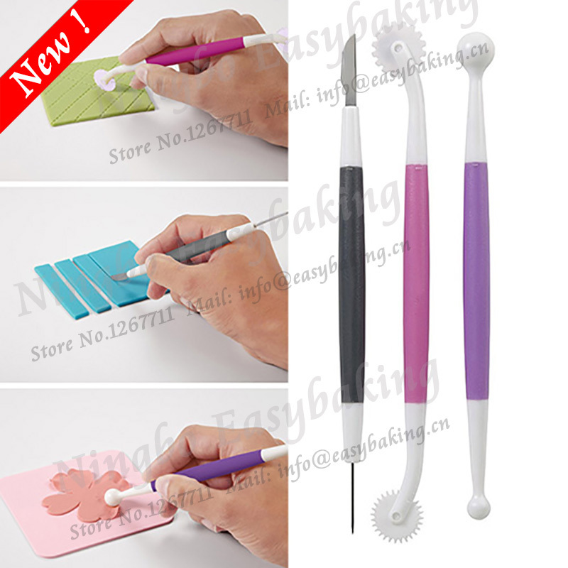 2015 NEW Cake Decorating Tools Fondant and Gum Paste Starter Tool უფასო გადაზიდვა
