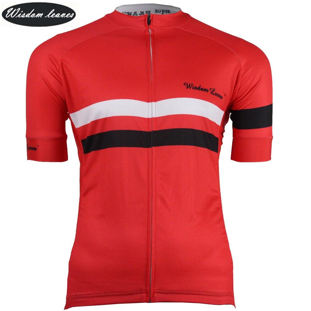Sabiduría hojas diseñador marca 2018 hombres sky ciclismo bicicleta camiseta mujeres maillot ciclismo equipos equipo bicicleta jersey ropa