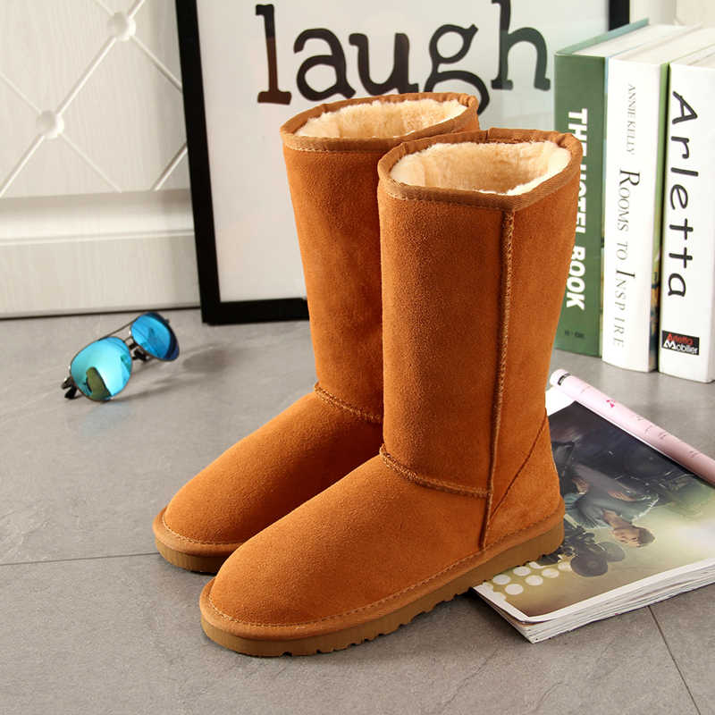Begocool Snow Boots For Women 100% Genuine Cow Suede Leather Australia Warm Winter Boots Shoes Botas Cheap Sale