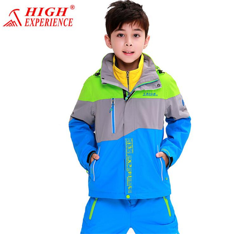 Boy Girl Jacket Spring Autumn Outdoor Mountaineering Clothing Children Jacket-wear Kids Outerwear Student Coat YL цена
