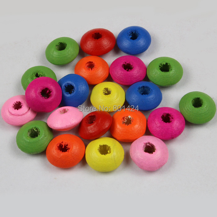 200piece/lot 32-87 mixed colour 10mm wooden spacer beads craft accessores for children jewelry fashion beads ...