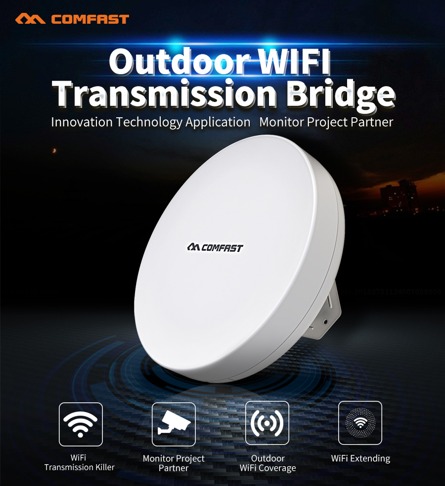 2017 New COMFAST access point 2.4ghz 300mbps outdoor CPE wifi router repeater AP project 1-2k for Long Range ip camera amplifier 2pcs high power wireless bridge cpe 2 3km comfast 300mbps 2 4ghz outdoor wifi access point ap router wifi repeater for ip camera