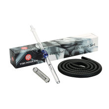 Yimi Waterpijp Slang Set 1.5 m Shisha Silicon Slang 40 cm Glas Mondstuk Narguil Lente Adapter(China)