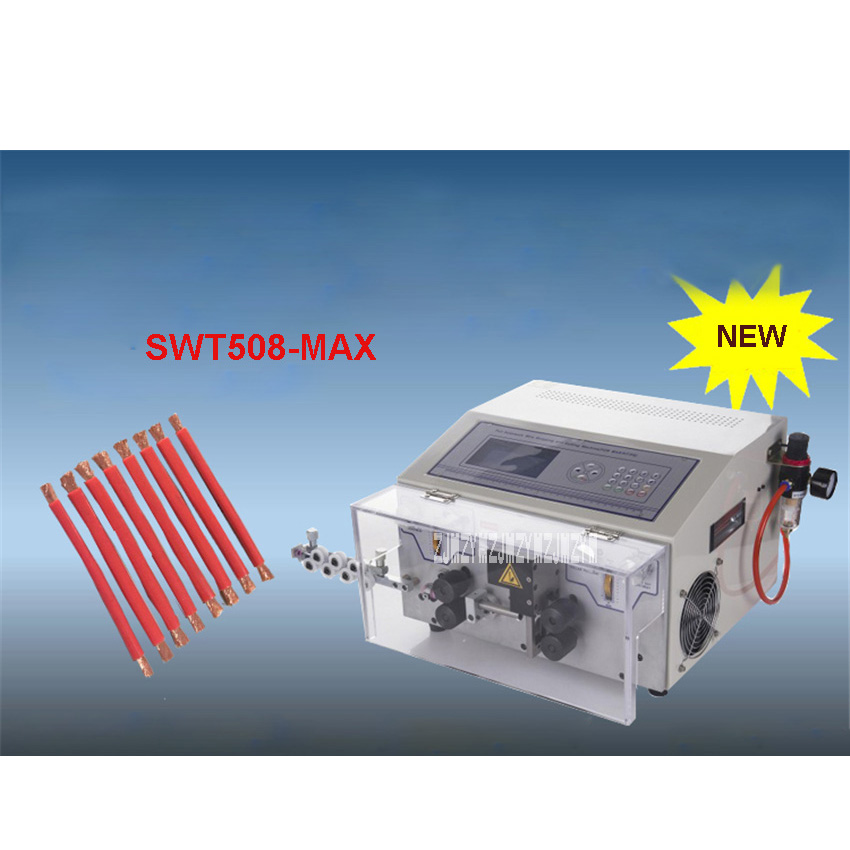 SWT508-MAX LCD Display Automatic Computer Wire Stripping Machine/ Cutting Machine 110V/220V 500W 0.2-16mm2 2000-3000 Strips/Hour
