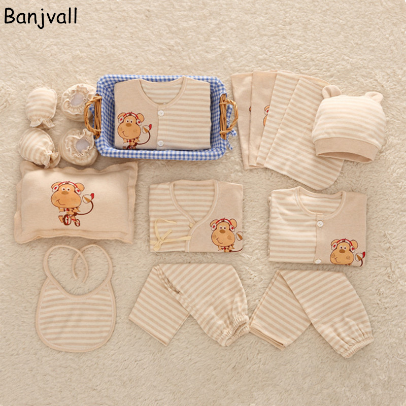 16 pieces/ set Newborn Baby Clothing Set Underwear Suits 100% Cotton Infant Gift Set Full Month Baby Sets For Spring & Summer 16 pieces set newborn baby clothing set underwear suits 100% cotton infant gift set full month baby sets for spring