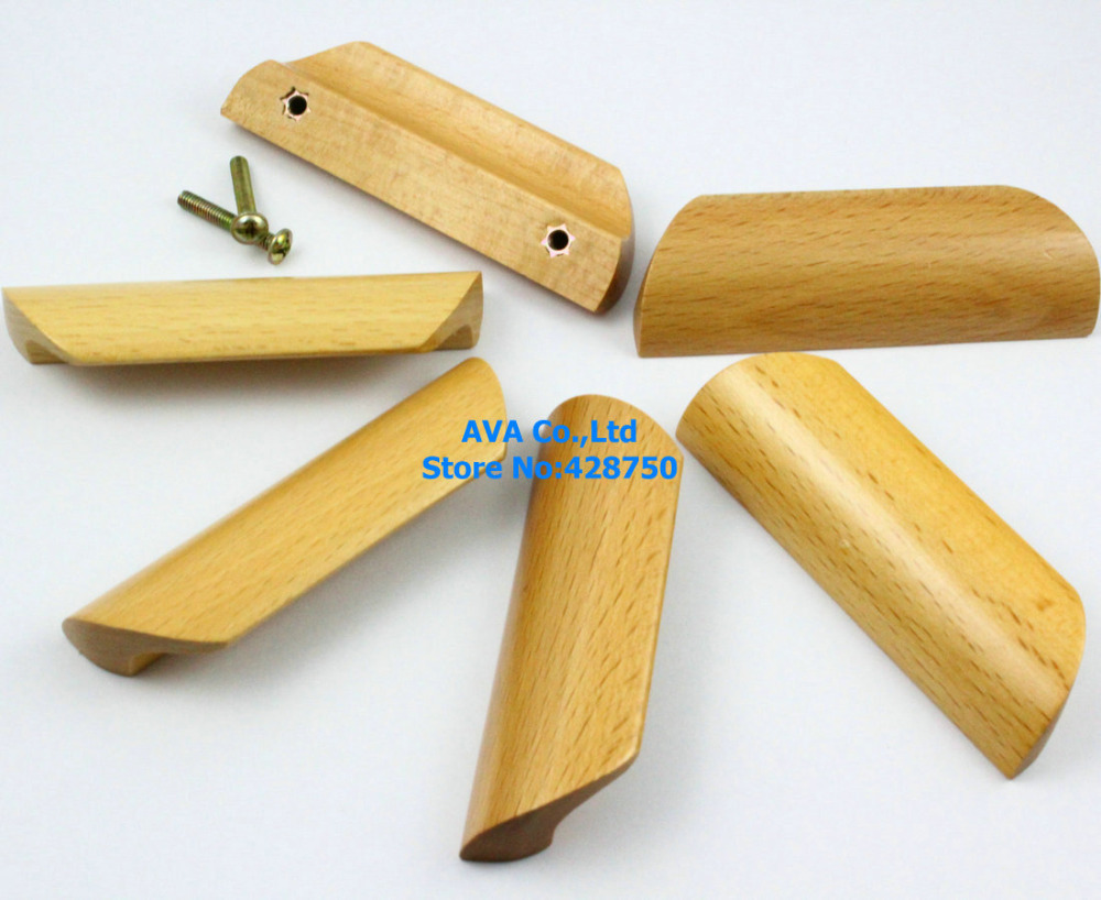 Wooden Furniture Hardware ~ Pieces wooden drawer pull cabinet wood knob furniture