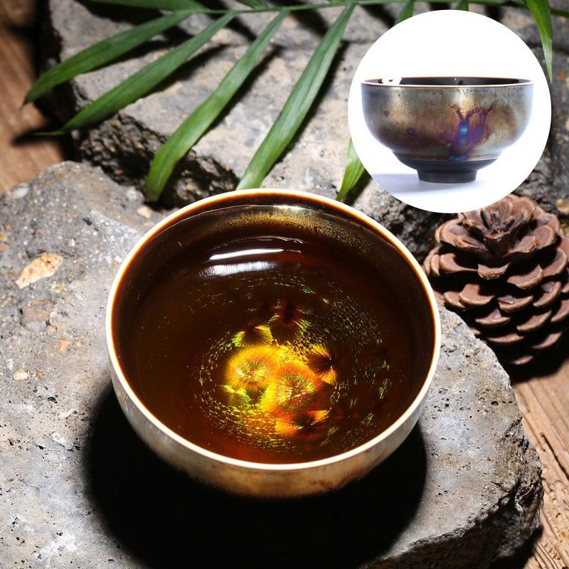 Colorful Temmoku Glaze Teacups 5