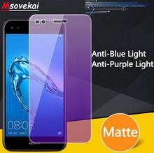 Anti Blue Purple Light Matte Tempered Glass For Huawei P30 Lite Nova 4e Honor 10 9 Y9 Y7 Pro Prime 2019 Screen Protector