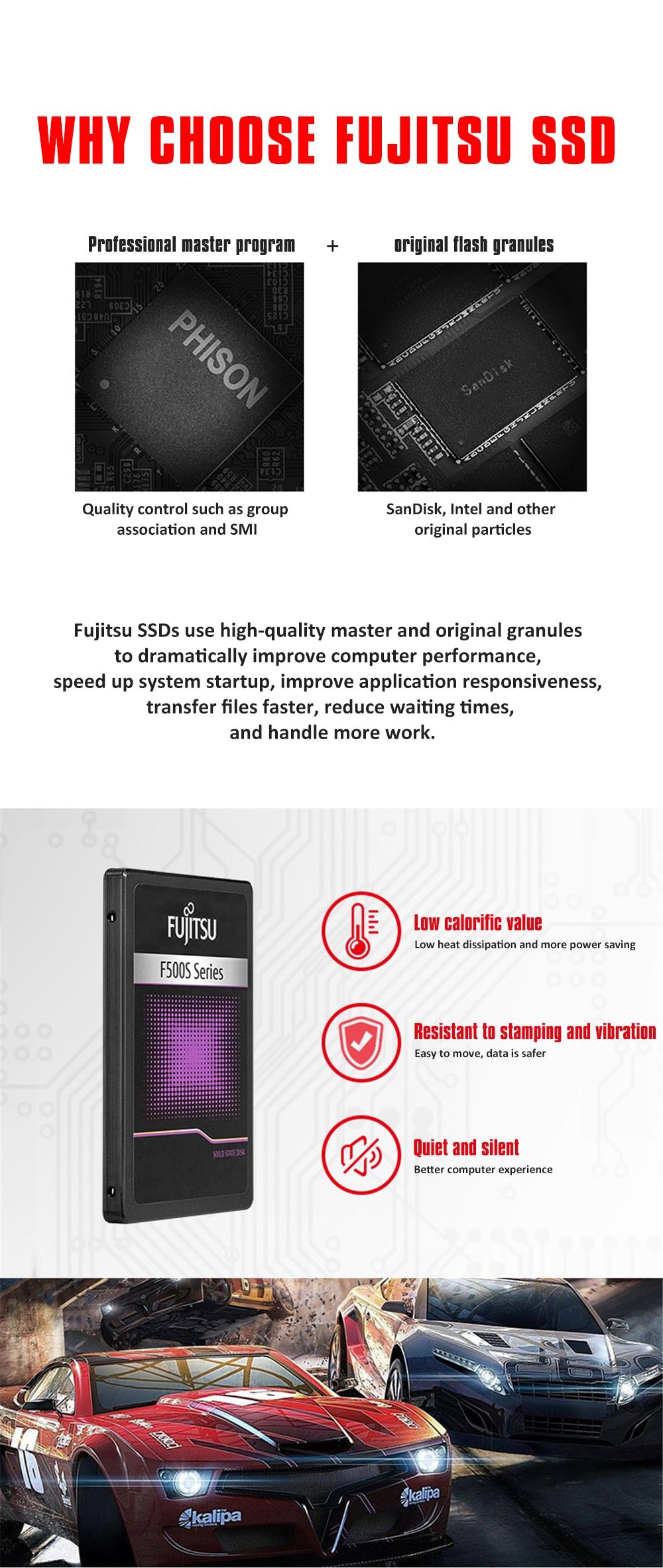 "FUJITSU 2.5"" ssd 1tb sata3 ssd 1024G 3D NAND Flash SMI/Phison/Realtek TLC ssd hard drive Solid State Drives for desktop laptop 18"