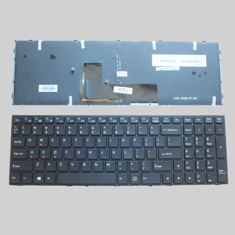 US NEW Keyboard for Clevo p650se Sager NP8651 P6500  MP-13H83USJ430B English Laptop Keyboard with Backlit laptop keyboard for clevo m550 black without frame with trackpoint farsi fs mp 03083ps 4309l