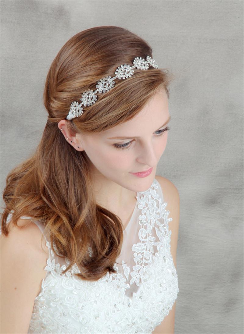 crystal head chain tiara wedding headband hair accessories