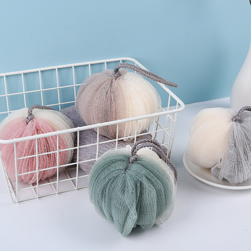 Image 2 - FOURETAW 1 Fashion Soft Bath Ball Bathsite Bath Tubs Cool Ball Bath Towel Scrubber Body Cleaning Mesh Shower Wash Sponge Product-in Bath Brushes, Sponges & Scrubbers from Home & Garden