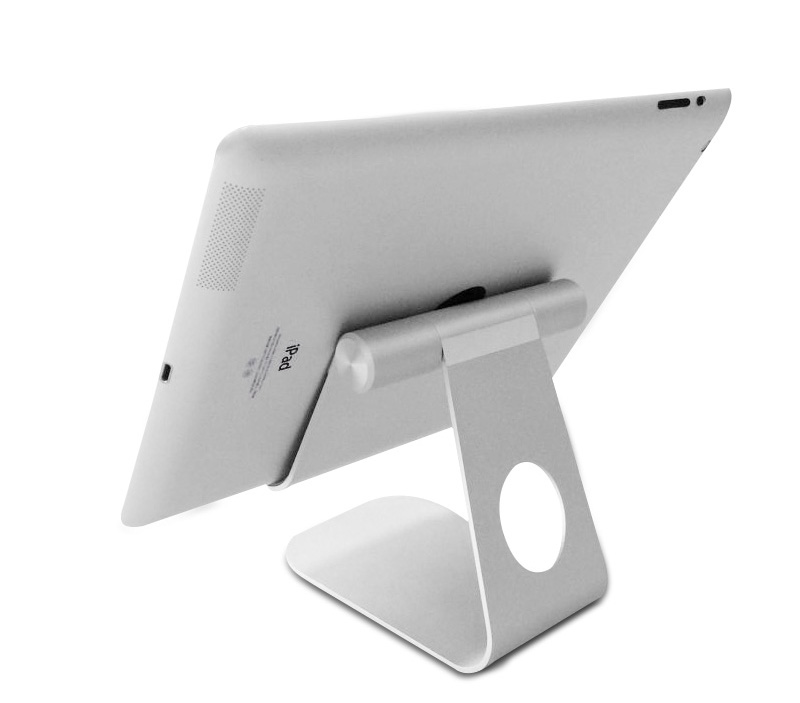 Multi-Angle Aluminum Holder Stand For iPad Pro / Air / Mini and Samsung Tablets, kindle tablets (sliver / gold)
