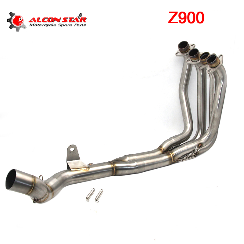 Alconstar- Z900 Motorcycle Exhaust Middle pipe System Case For Kawasaki Front Header Pipe With Sensor Tube Slip On Racing