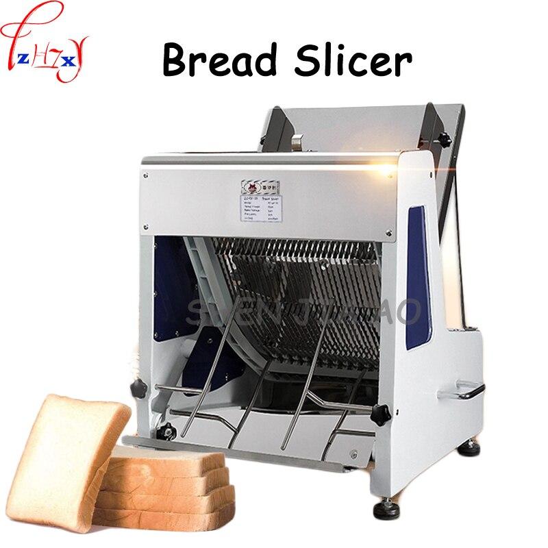 Ev Aletleri'ten Ekmek Makineleri'de 1 pc 110/220 VElectric Ticari Paslanmaz Çelik ekmek dilimleyici 31 dilim ekmek dilimleyici kare çanta Tusi Sıhhi hileler makinesi title=