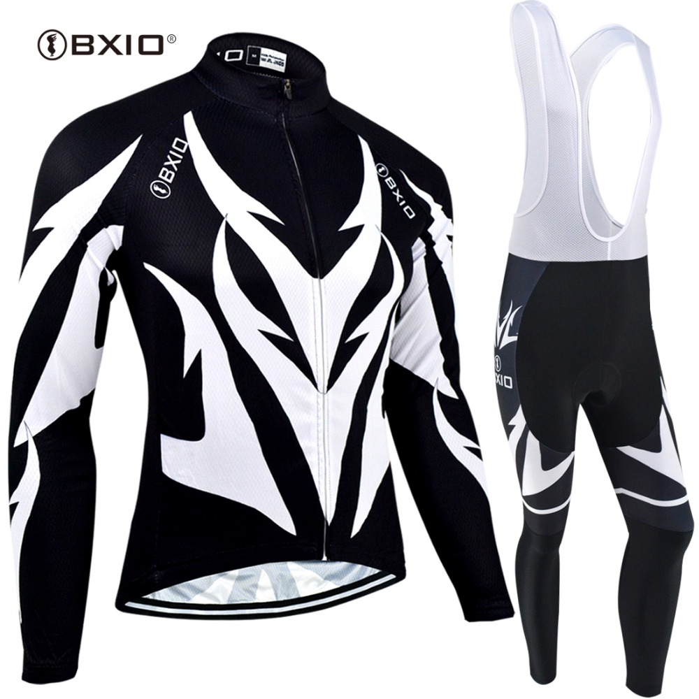 787199534 BXIO New Cycling Jersey Sets Long Sleeve Winter Thermal Fleece MTB Cycle  Clothes Wear Ropa Ciclismo Sportswear BX-0109H107