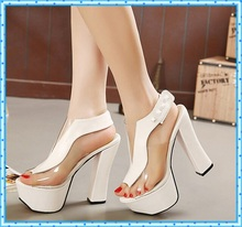 platform pumps sexy high heels ankle strap chunky sandals women shoes ladies 2016 shoes woman party