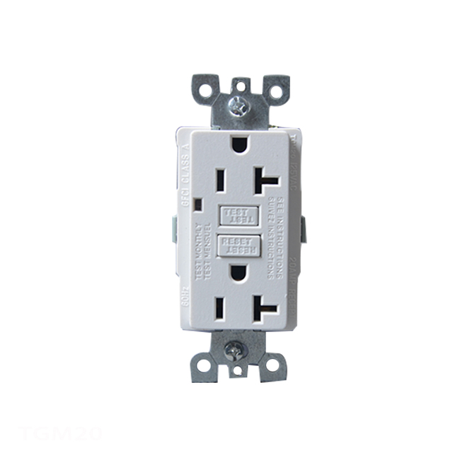 2008 Version 20 Amp 125V Self Test Duplex Electrical GFCI Receptacle ...