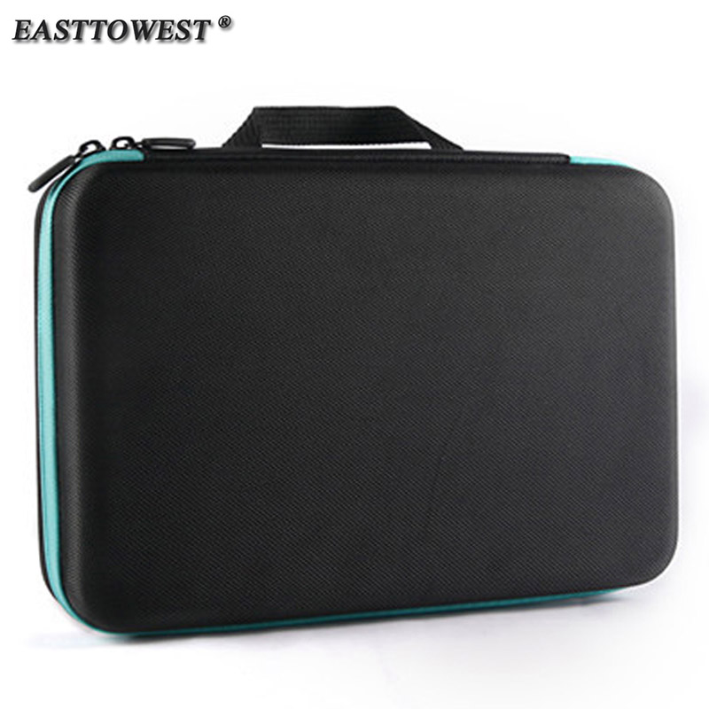 Easttowest For Gopro Accessories Protective Storage Bag Carry Case for Xiaomi Yi Go pro Hero 5 4 Sjcam Sj4000 Action Camera travel aluminum blue dji mavic pro storage bag case box suitcase for drone battery remote controller accessories