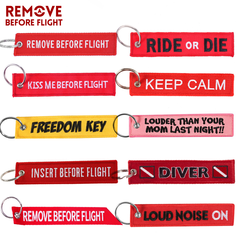Luggage Tag Embroidery Remove Before Flight Key Pilot Travel Tag Bag Age Tags For Flight Crew Pilot Aviation Lover Travel Access