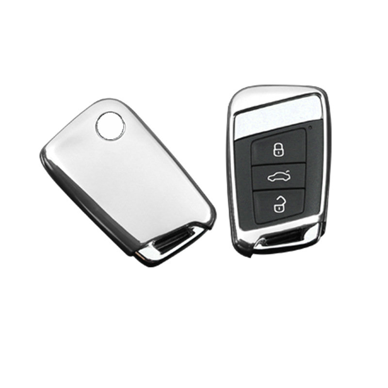 TPU Car Key Case Auto Remote Key Cover Shell For Volkswagen VW 2016 2017 Passat B8 Skoda Superb A7 Accessories Styling