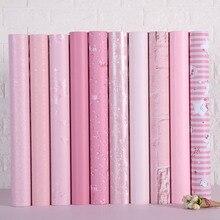 Обои самоклеящиеся для спальни Девушки водонепроницаемые теплые Розовые Обои Для общежития настенные наклейки декоративные настольные шкаф мебель