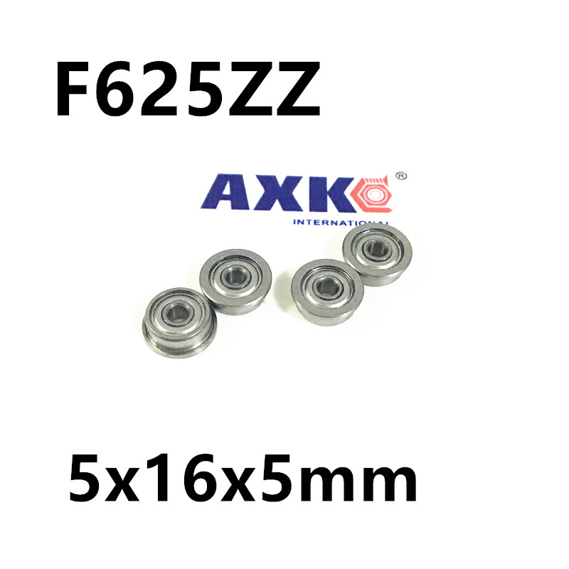 Desktop 3D Printer Special Flange Bushing Ball Bearing F625ZZ 5X16X5mm F625 For Kossel/ Prusa i3 Parts desktop 3d printer special bearing 624zz 10pcs 4x13x5mm mute ball bearings 624 for kossel mini prusa i3 parts free shipping