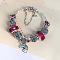 Wonderful fashion jewery charm accessories 925 silver open design bracelets