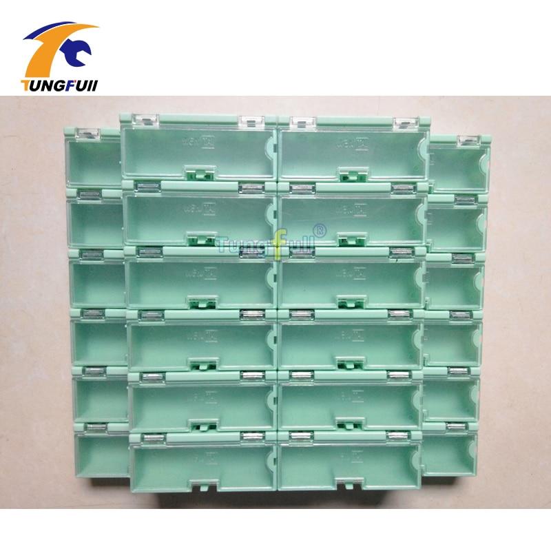 30 stuks Elektronische Case Kit Componenten Opbergdozen Containers Groene en grotere sieraden opbergkoffer