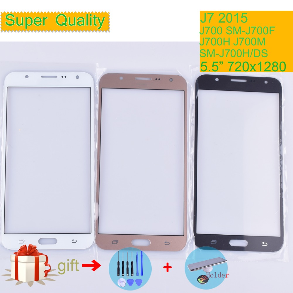 For Samsung Galaxy J7 2015 J700 SM-J700F J700H J700M J700H/DS SM-J7008 Touch Screen Front Glass Panel TouchScreen LCD Outer Lens