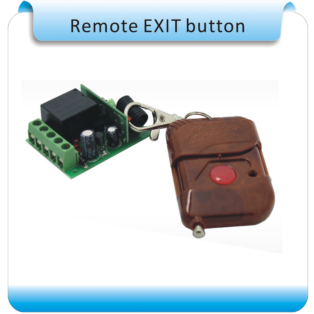 DC-12V Access control system  wireless remote exit switch/ Exit button 2 receivers 60 buzzers wireless restaurant buzzer caller table call calling button waiter pager system