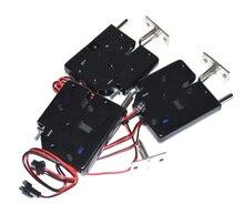 5 pcs 12 V מיני סולנואיד אלקטרומגנטית חשמלי בקרת שכיבות למשוך ארון מגירת מנעול עם סדרן