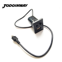 Car USB AUX Slot Interfaces Plug Button Cable For Ford Focus Interface With Mini USB Cable