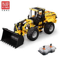 Mould King Wheel Loaders Kids Building Blocks 2.4GHz Remote Control Rubber Tires Set Military Bricks Legoingly Educational Toys