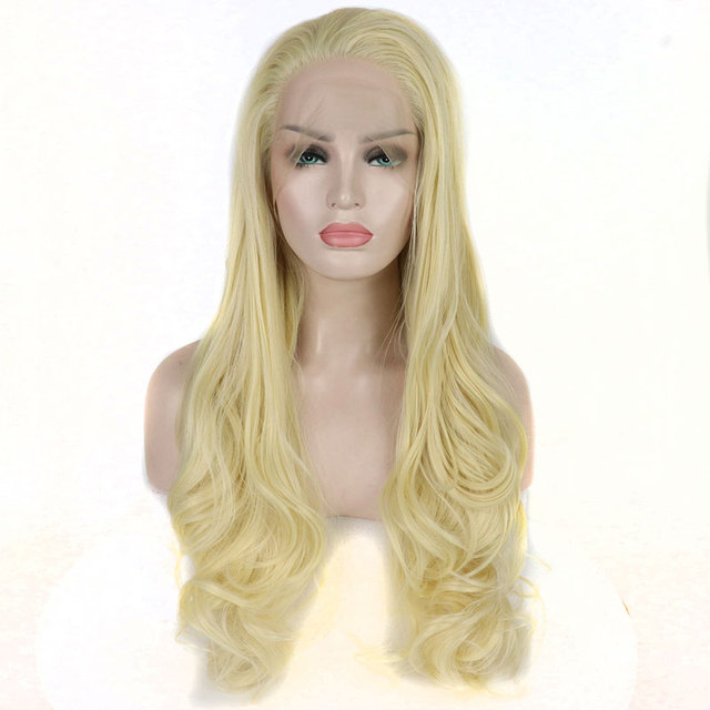 Bombshell Hand Tied Light Blond Natural Wave Glueless Heat Resistant