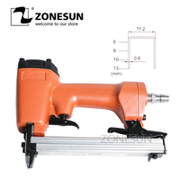 ZONESUN Nail Gun Pneumatic Micro Pinner Nailer Air Brad Headless Pin Gun For Furniture Wood Sofa Woodworking Air Stapler 11.2mm