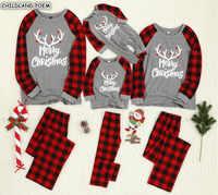 Noël famille correspondant pyjamas ensemble mère fille père fils vêtements de nuit pour enfants famille Look maman et moi vêtements de nuit Pyjama vêtements