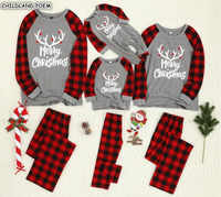 Christmas Family Matching Pajamas Set Mother Daughter Father Son Kid Sleepwear Family Look Mommy And Me Nightwear Pyjama Clothes
