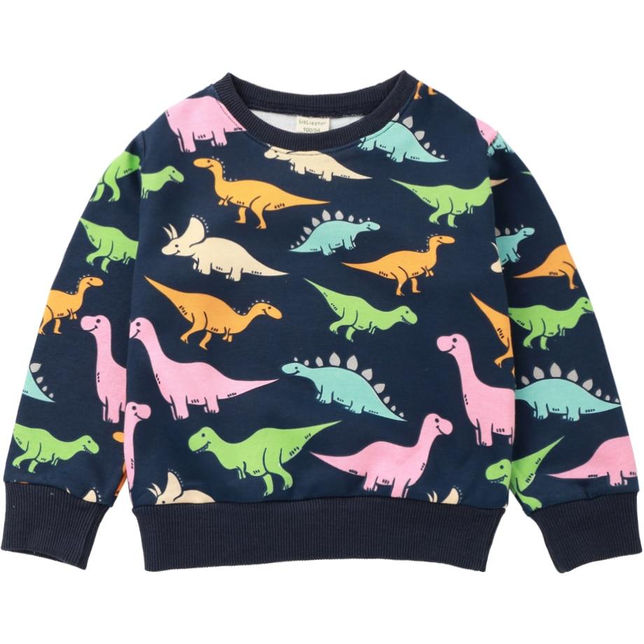 Sport Sweatshirts For Boys Girls Cute Fun Dinosaur Design -8459