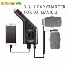 Cargador de coche de batería DJI MAVIC 2 3in1 con puerto USB cargador de control remoto para DJI MAVIC 2 PRO y ZOOM drone Accesorios