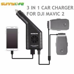 Image 1 - Cargador de coche de batería DJI MAVIC 2 3in1 con puerto USB cargador de control remoto para DJI MAVIC 2 PRO y ZOOM drone Accesorios