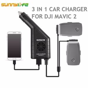 Image 1 - DJI MAVIC 2 3in1 شاحن مع USB ميناء تحكم عن بعد شاحن سيارة تعمل بالبطارية ل DJI MAVIC 2 برو والتكبير ملحقات طائرة بدون طيار