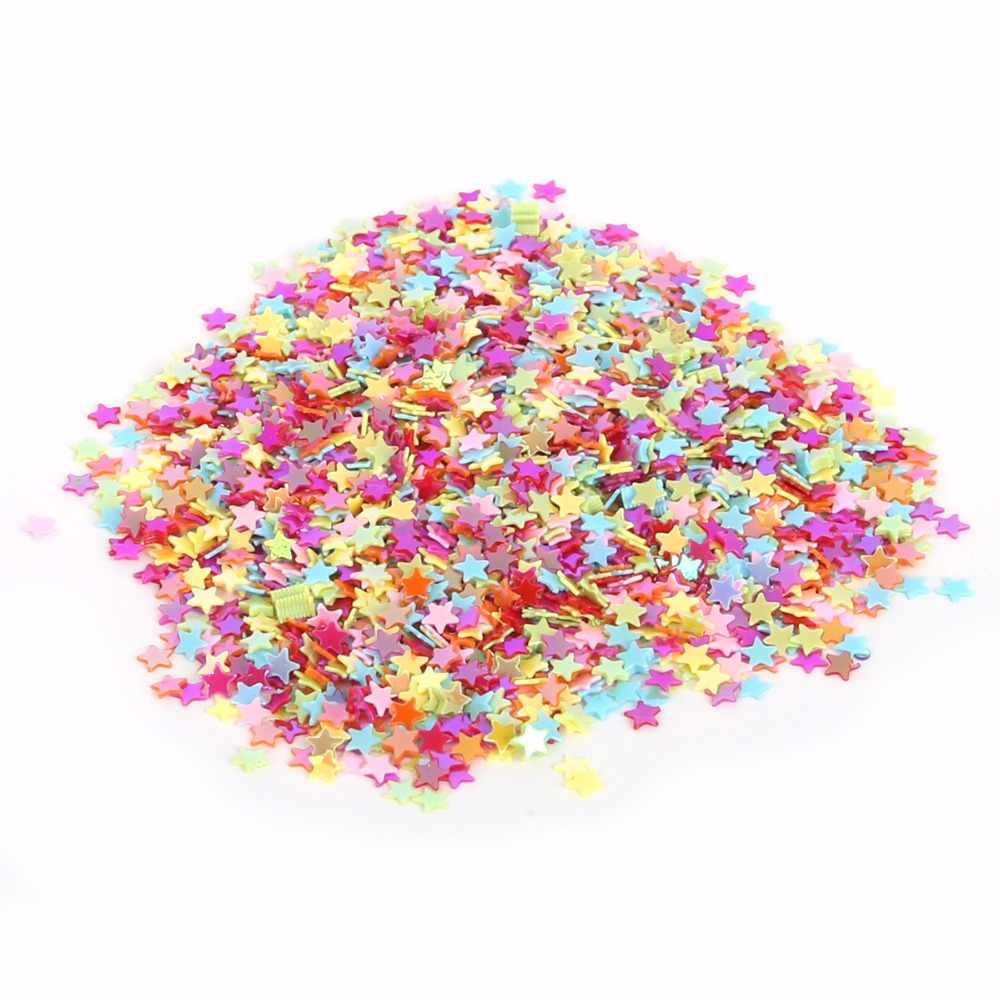 3mm Mixed Five-Pointed Star Loose Sequin for Clothing Accssory DIY Craft Scrapbooking Wedding Art Decoration Jewelry Making