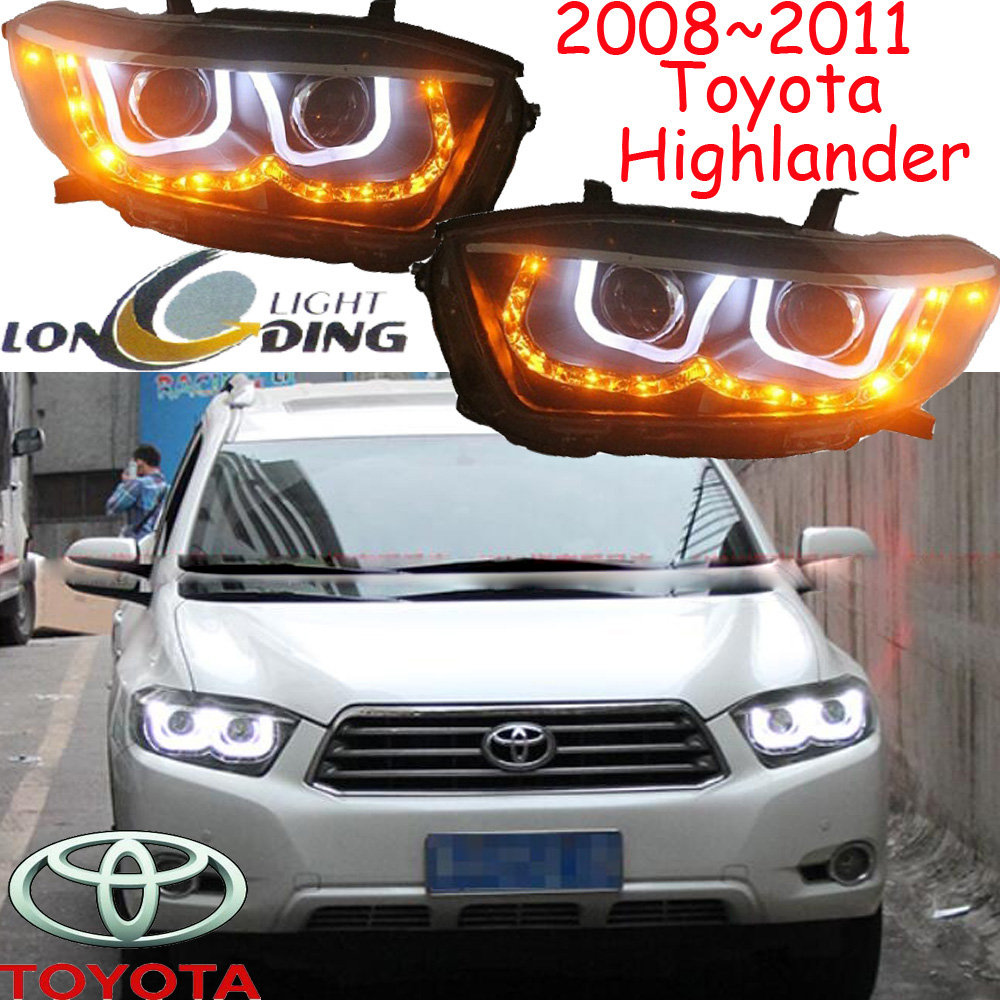car-styling,highlander headlight,2008~2011,Free ship!2pcs,highlander fog light;car-covers,chrome,highlander head light car styling highlander daytime light 2012 2014 free ship led chrome 2pcs set highlander fog light car covers highlander
