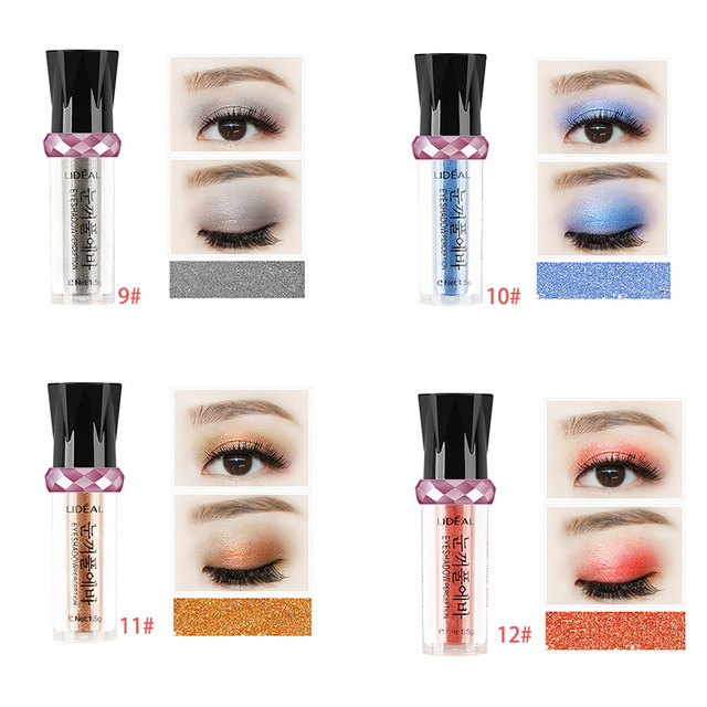 14 Colors Makeup Shiny Eyeshadow Balls Cosmetic Shimmer Pigment Powder Beauty Long Lasting Nude Mineral Eye Shadow Pencil