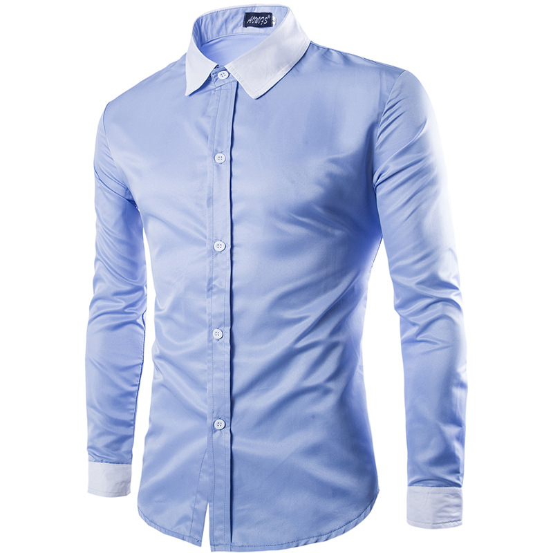 Fashion Brand Men  Shirt Business Korean Version Of Self-cultivation Shirts Long-Sleeves Tops Men's Summer Casual Shirts y231