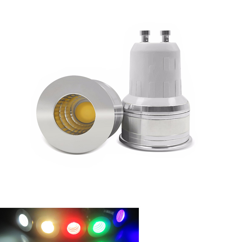 LED Mini GU10 MR11 3W 35mm Spotlight GU5.3 Bulb Lamp Replace Halogen Lamp AC85-265V RGB  Home Lights