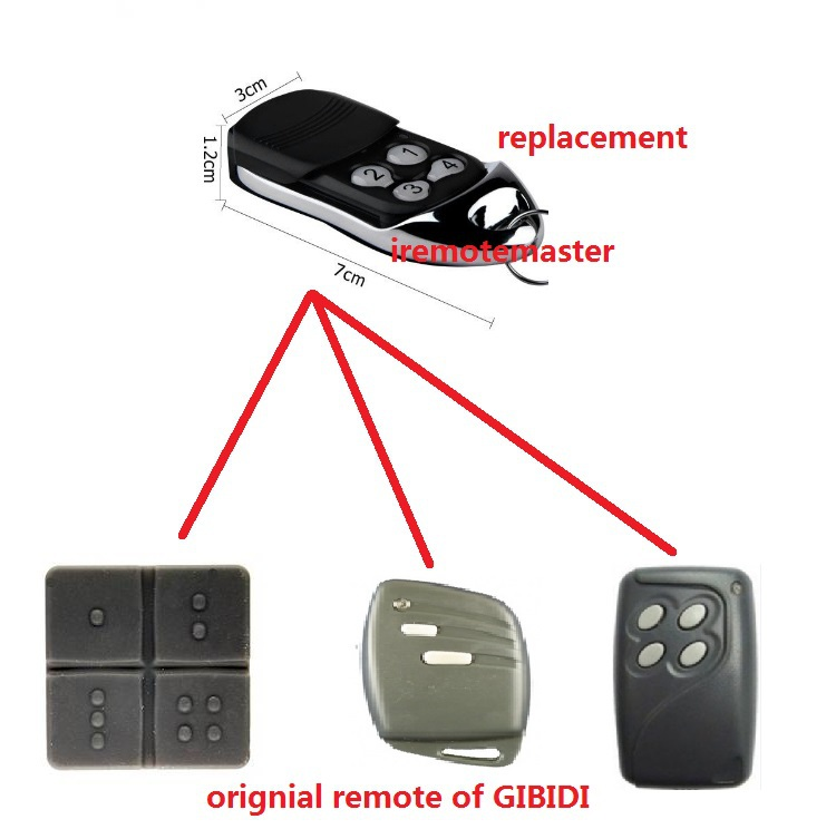 Compatible remote for 4 channel GiBiDi DOMINO MANAGER remote control - DTC4334 / AU03010