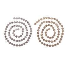 1 ярд алмазные Кристальные аппликация со стразами браслет-цепочка свадебное украшение 12 мм