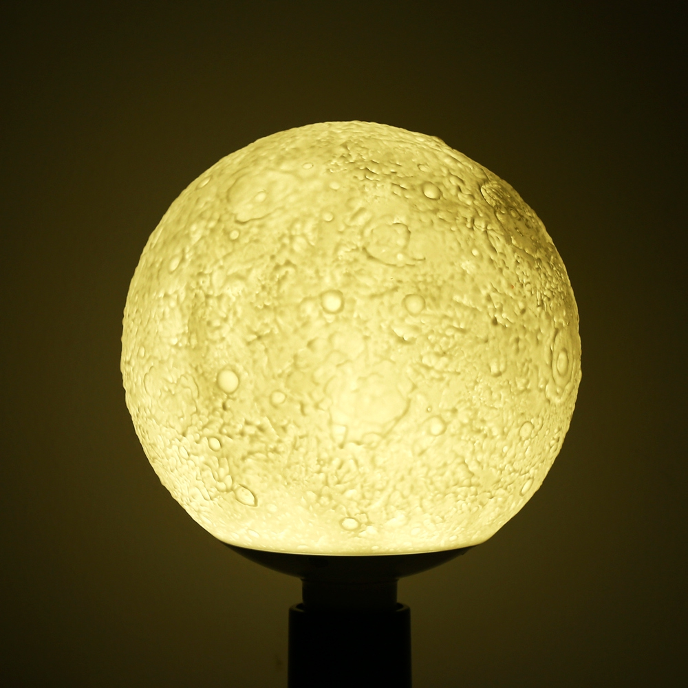 G13 3D LED Magical Moon Pendant Light SMD2835 84 leds Moon Lamp Pendant Light 2 Color For Bedroom Night Light Lamp Creative Gift tanbaby 15cm 3d print magnetic levitation moon lamp magnetic floating led night light auto rotatable decorative moon light